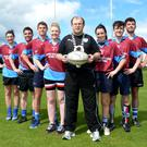 Pictured at the Macra na Feirme National Dairy Council Tag Rugby Final are Berrings Macra with Macra National President James Healy. (l-r) Norma Downing, Kevin Herlihy, Liam Hennessy, Aileen Sheehan, James Healy, Aoife McGall, Philip O'Leary and Colm Foley
