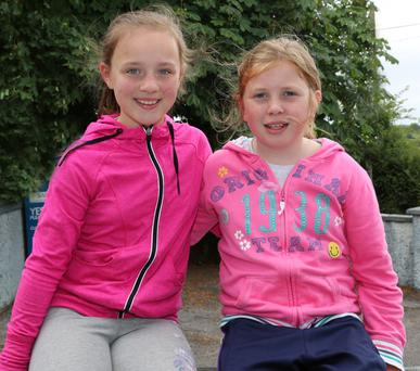 Laura Hickey and Leah Murphy, Gneeveguilla, were at the Barbecue hosted by Tureencahill Community Group