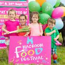 Lucy O'Connell, Freya Riordan, Anna Mehigan and Charlie O'Connell from Macroom, pictured at the launch of Macroom Food Festival 2017 at Macroom Buffalo Cheese Farm, Kilnamartyra, Co. Cork. The festival takes place from Thursday 21st - Sunday 24th Sept