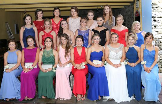 Girls from Coláiste Treasa, Kanturk, putting on the style at their Debs last Friday