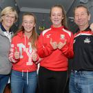 The Barry Murphy family from Coachford who were supporting Cork in the All Ireland hurling semi final at Croke Park