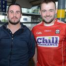 Noel Twomey, Gary McSweeney and Daire Twomey from Cullen were hoping for Cork success in the All Ireland hurling semi final
