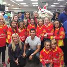 The Mallow Ladies U12 GAA Team with Fair City's Ryan Andrews and Caroline Harvey at Mallow N20 Plaza Family Fun Day last weekend