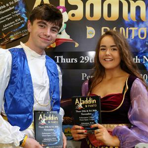 Robert Dunne and Melanie Finn will be on stage in Aladdin the Musical which will be staged at Davis College, Mallow on November 28, 29 and 30. Photo: Sheila Fitzgerald