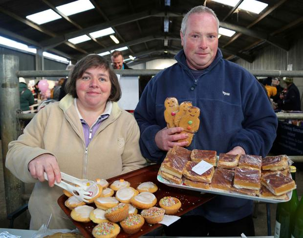 Josephine and Ray Brosnan from Meelin pictured with some of their delicious home baking at the Christmas Market