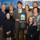 Kilbrin GAA Hall of Fame recipient Neilly O'Sullivan pictured with family connections at the Kilbrin GAA Club function
