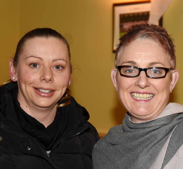 Liz Gammel and Rose Jackman pictured at the draw for Charleville Camogie Club at the GAA Centre