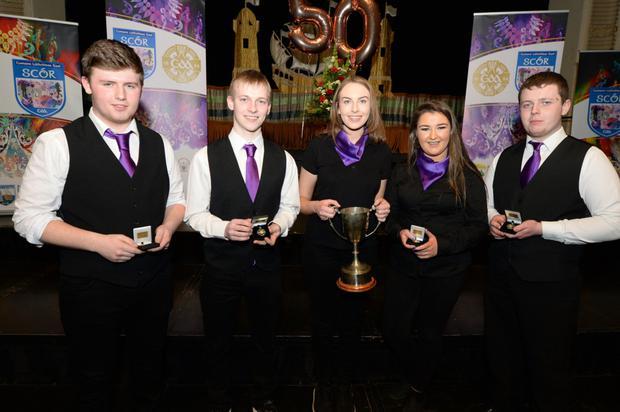 Members of Kilshannig Instrumental Music Group were thrilled to win a first Munster Senior Scór title