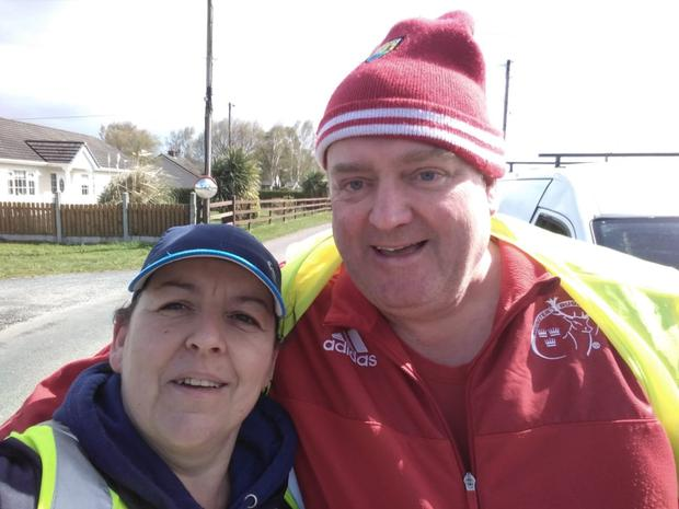 Rosie Looney and Kevin Luddy at the Killavullen Spring Clean last weekend