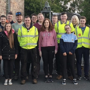 Members of Banteer Macra got together for a village clean-up recently