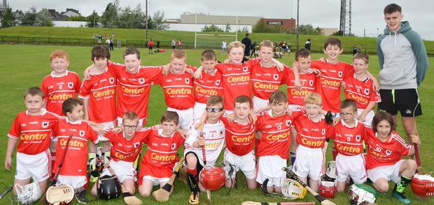 The Charleville juvenile team that won the inter-club hurling blitz when they defeated Newtownshandrum in the final, are pictured with Cork star Darragh Fitzgibbon.