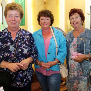 Kathleen O'Mahony and Mary O'Connor with Nora Mary O'Riordan, Kilbrin at the 'Music for Marie' concert in Knocknagree
