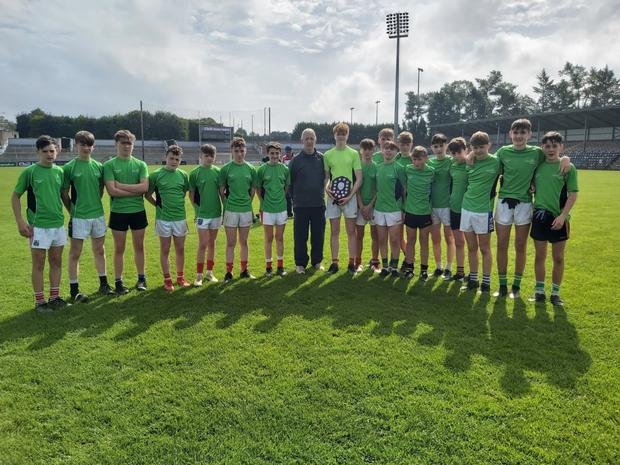 The Cork North West team who won out the U14 blitz, played win Pairc Ui Rinn against a very good East Cork team. The shield was presented by Cork legend, Conor Counihan.