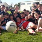 A Great day was had by the U12 Football team from Lyre on Saturday week last as they claimed their first silverware after an epic battle against Milford in Churchtown on a shoreline of Lyre 7:6 (27) to Milford 4:8 (20) after extra time