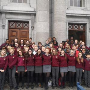 Davis College Mallow 1st & 2nd Year Music students who attended the Cork Pops Orchestra in Cork City Hall.
