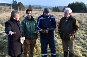 Minister Creed with local farmers on Mullach an Ois, one of the designated areas