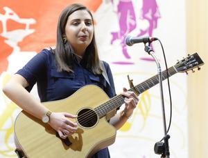 Muireann Vaughan (Kanturk) performing in the Cork Scór production. Picture John Tarrant