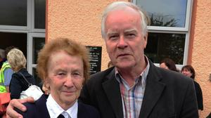 Former teachers, the late Peggy Kelleher and John Tynan enjoyed the Aubane School Centenary Celebrations in 2012. Picture: John Tarrant