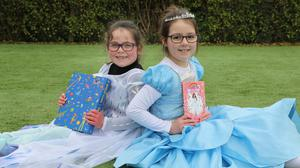 Mia Fitzpatrick and Aoibheann O'Rourke all dressed up for World Book Day at Ballydesmond National School. All photos by Sheila Fitzgerald