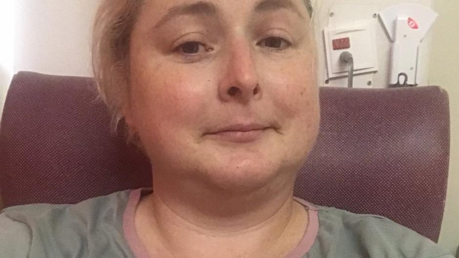 Cork actor Siobhán McSweeney is laid up following an accident in which she broke her leg.