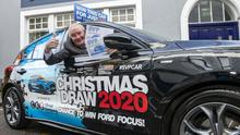 Paddy O'Flynn, St Vincent de Paul south/west regional president launching the charity's annual Christmas appeal and raffle