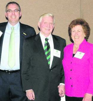 Diarmuid and Mary Ann Philpott with John F. O'Riordan, President of the Irish American Democratic Caucus