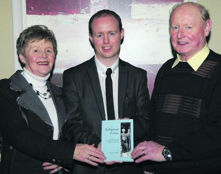 Patrick Mannix, historian and author of the book 'The Belligerent Prelate', pictured at the launch of the paperback edition of the book with his parents, Chris and John Mannix, at the Charleville Park Hotel, Charleville.