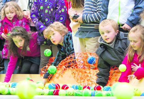 Enjoying the entertainment at Mallow Racing Home for Easter 2012 Festival. Photo: Maurice Whelan