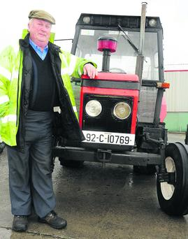 Phil Casey from Millstreet brought hid 1992 Zetor Tractor to the Millstreet Vintage Day. Picture John Tarrant