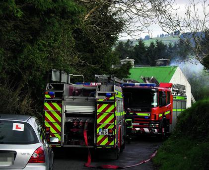 Scene of the fire in Kilavoultra which claimed the life of Bina O'Connor on Monday morning.