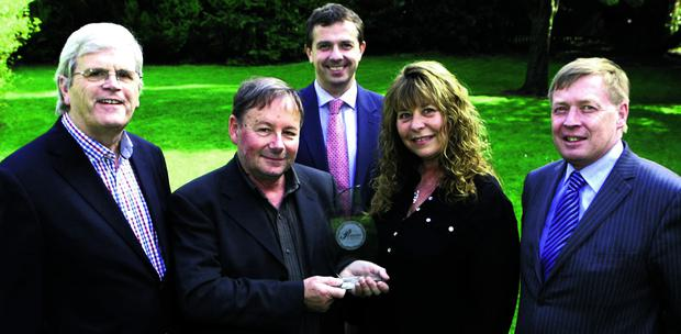 At the Cork Person of the Month presentation were, from left: Manus O'Callaghan, Awards Organiser; John Cahill, Cork Person of the Month; John Lehane, Lexus Cork (Sponsor); JoAnn Cahill, Pat Lemasney, Southern (Sponsor). Picture, Tony O'Connell Photography.