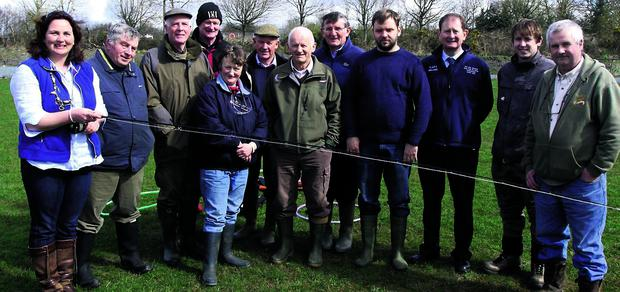 Glenda Powell giving a masterclass on casting to anglers. The event was organised by the Duhallow Angling Centre of Excellence at Kanturk Soccer Club. Photo by Patrick Casey