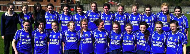 St Mary's secondary school's senior camogie side that claimed the county title last month when beating Glanmire in the final.