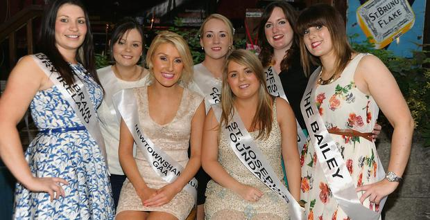 Some of the entrants in the Cork Rose of Tralee heat from the North Cork area who were in Geary's Bar Charleville.
