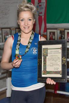 Irish boxing champion Christina Desmond from Baile Bhuirne. Photo: John Delea.