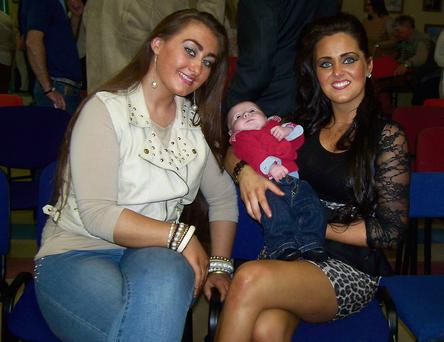 Kelly Mongan with her new baby and Youthreach student Deanna Lehane at the recent awards day.