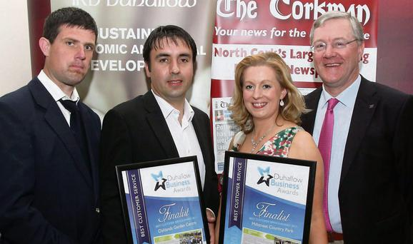 Runners up in the Best Customer Service category were, from left: Niall Murphy and William Cronin, Oaklands Garden Centre, Kanturk with Eleanor Leahy and Donie Howard, Millstreet Country Park.