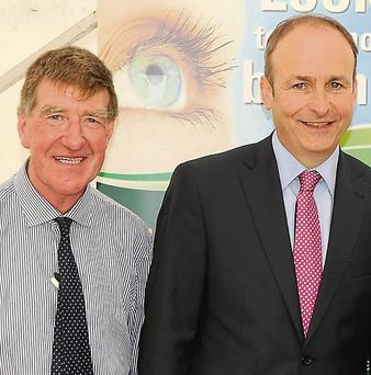 Ian Doyle at Charleville Show with Fianna Fail leader Micheal Martin.