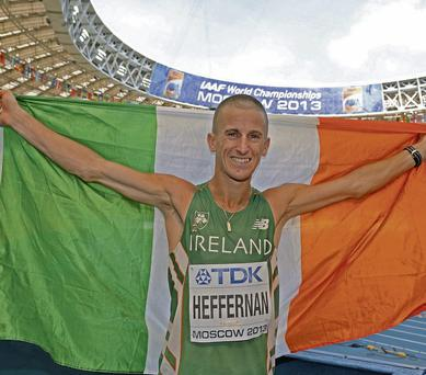 Cork race walker Robert Heffernan has since deleted the offensive tweet
