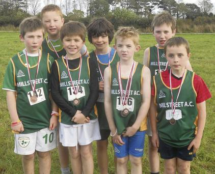 Young Millstreet athletes enjoyed success at the Co. Cross Country Championships in Conna.
