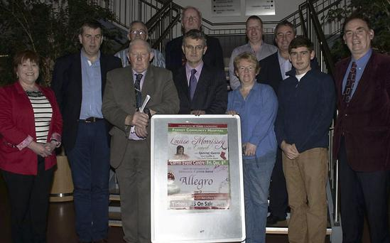At the launch of the concert were (back, from left): Noel Hickey (East Cork Oil), Tom Barry (Vice Chairman, S.P.H.F.A.), Paul O'Regan (S.P.H.F.A.) and Charlie McCarthy (McCarthy Insurance) Front Row: Catherine Dorgan (Cork Marts), Dave Ryan (Amber Service Station Fermoy), Tom Higgins (Chairman S.P.H.F.A.),Tony Glavin (Glavin and Ronan Accountants Fermoy), Sheena O'Brien (Secretary S.P.H.F.A.), Owen O'Keefe (International Swimmer) and Cllr Tadgh O'Donovan