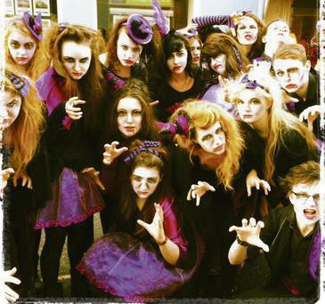 Vampire choir: Centre Stage Students who represented Mallow in the Rebel Week parade through Cork City last Saturday.