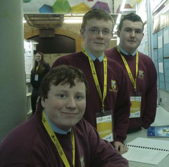 At the Young Scientists exhibition at the RDS were Millstreet Community School students Michael O'Keeffe, Stefan Healy and Keith Dineen.