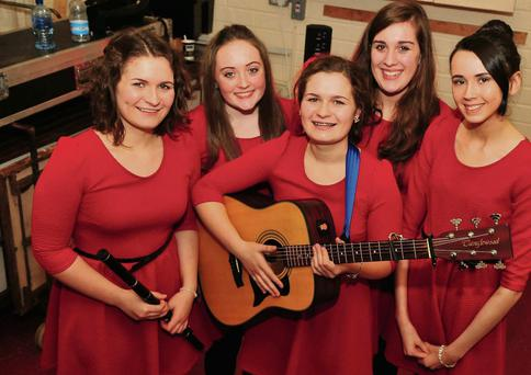 The Boherbue Ballad Group of Kate O'Gorman, Marie O'Gorman, Megan Kiely, Marguerite Hickey and Grace Leade. Photo: John Tarrant