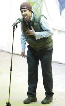 Danny Corkery (Milford) performing in the County Senior Scór Finals.