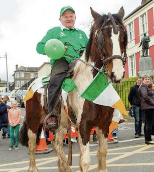 Pat Fouhy from Castlelyons on horseback in Fermoy.