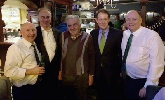 Pictured in Chicago are Pat O'Connor; Co Cork Mayor Noel O'Connor; Michael O'Connell; Minister Sean Sherlock; and Seamus Heaney