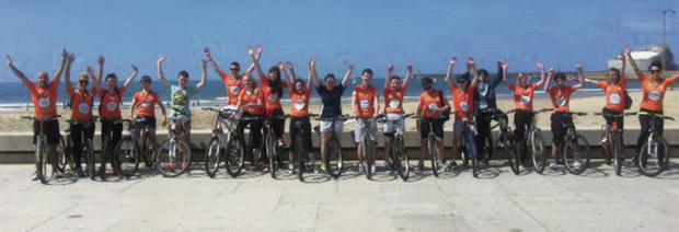 Davis College, Mallow students bring the Cycle Against Suicide to the Model UN in Porto, Portugal.