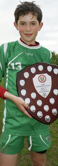 Adam Murphy, Killanardrish/Coachford AFC and Cork Schoolboys Under 13 League 'Player of the Year'.