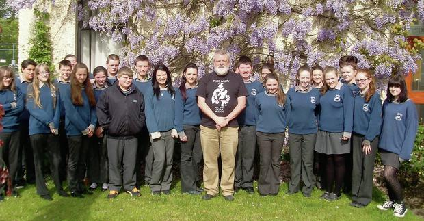 Second year students at McEgan College who have just completed a six week writing workshop with Cork poet Gerry Murphy. Gerry has written several anthologies of poetry and has been supporting students in the writing of their own poems. Their work, along with that of students from other West Cork schools is due to be published as an anthology later this year.